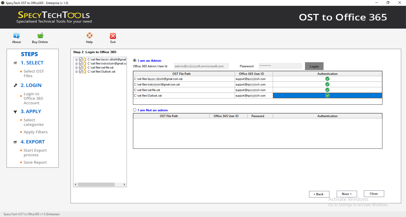 Import OST file to O365