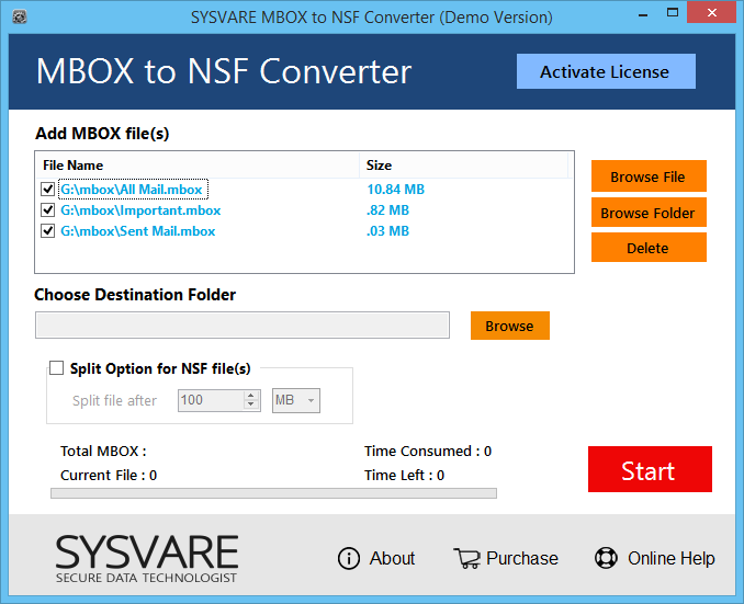 Create NSF from MBOX Shareware