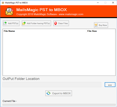Convert Outlook .pst to MBOX Format
