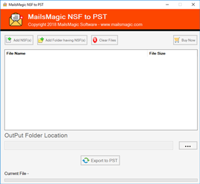 Export Lotus Notes NSF to PST 1.0