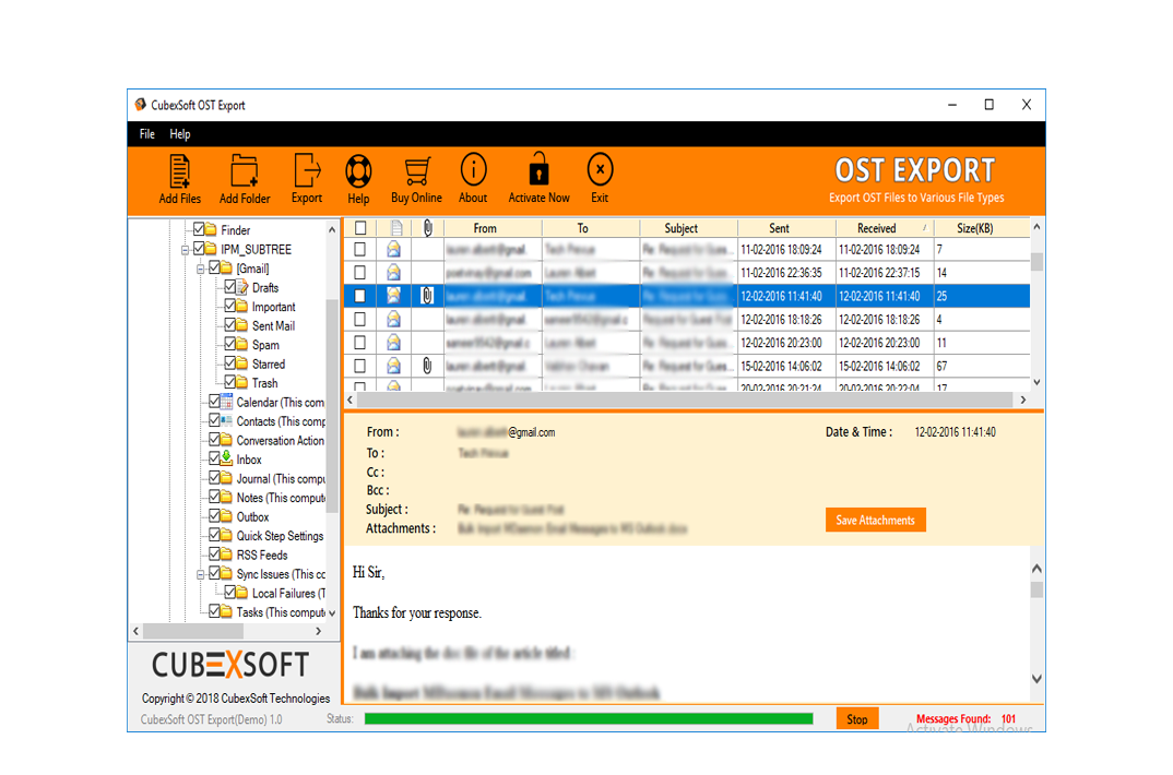 Convert OST to PST Outlook 2016 Online