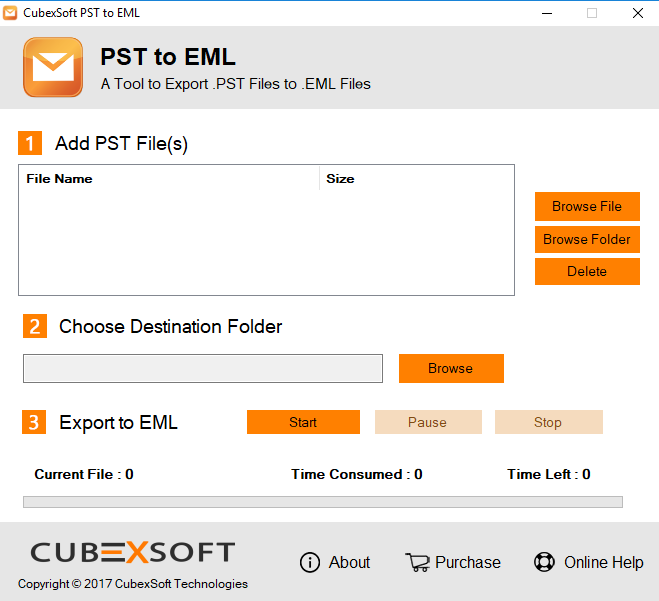 Import PST File to EML 1.2