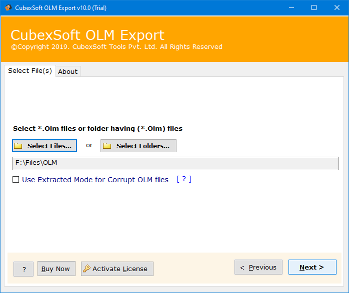 App to Open OLM File to Windows Outlook