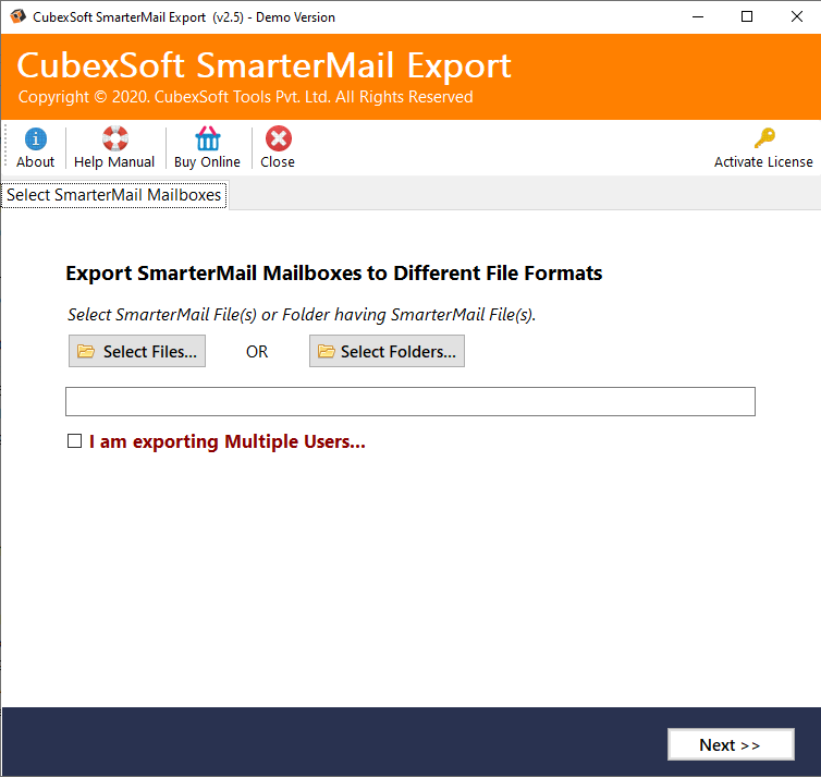 SmarterMail Backup in Outlook