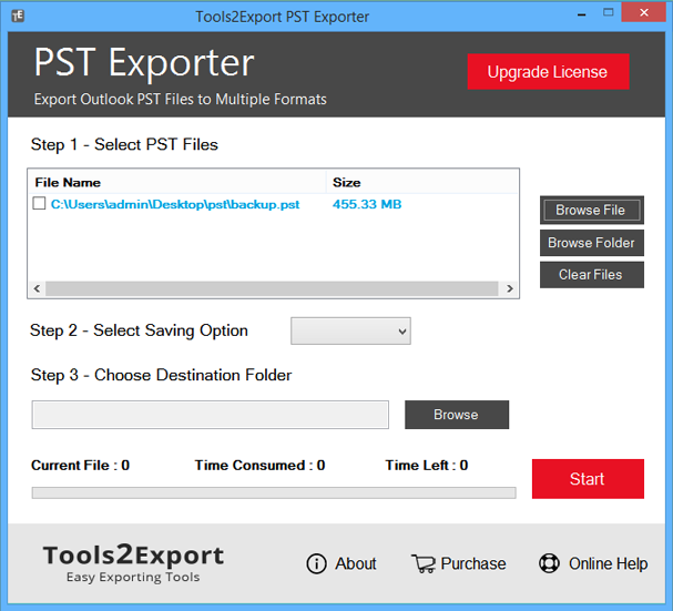 Screenshot of Import PST Files in Windows Live Mail 1.0.4